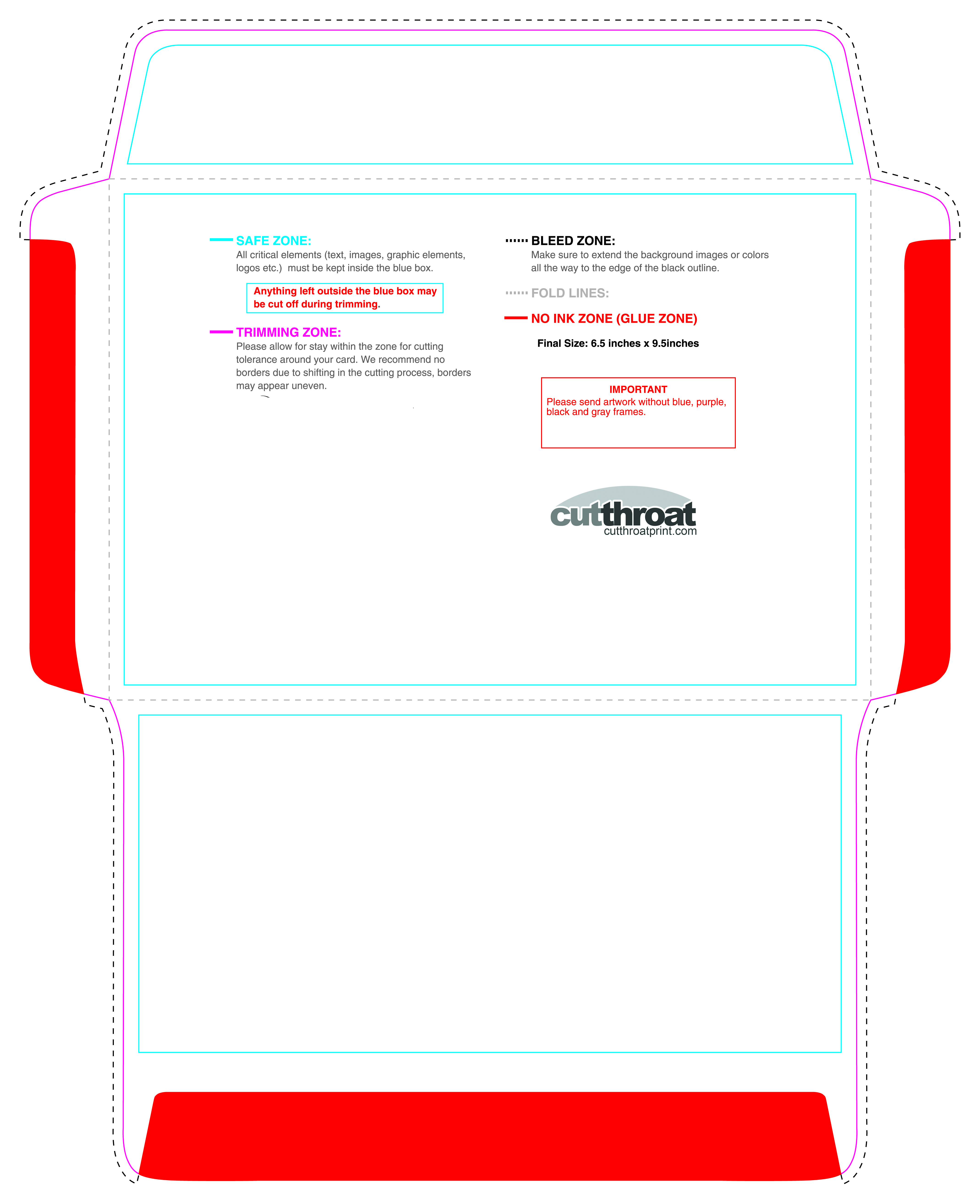 Cutthroat PrintCustom printed Envelopes with FREE SHIPPING!