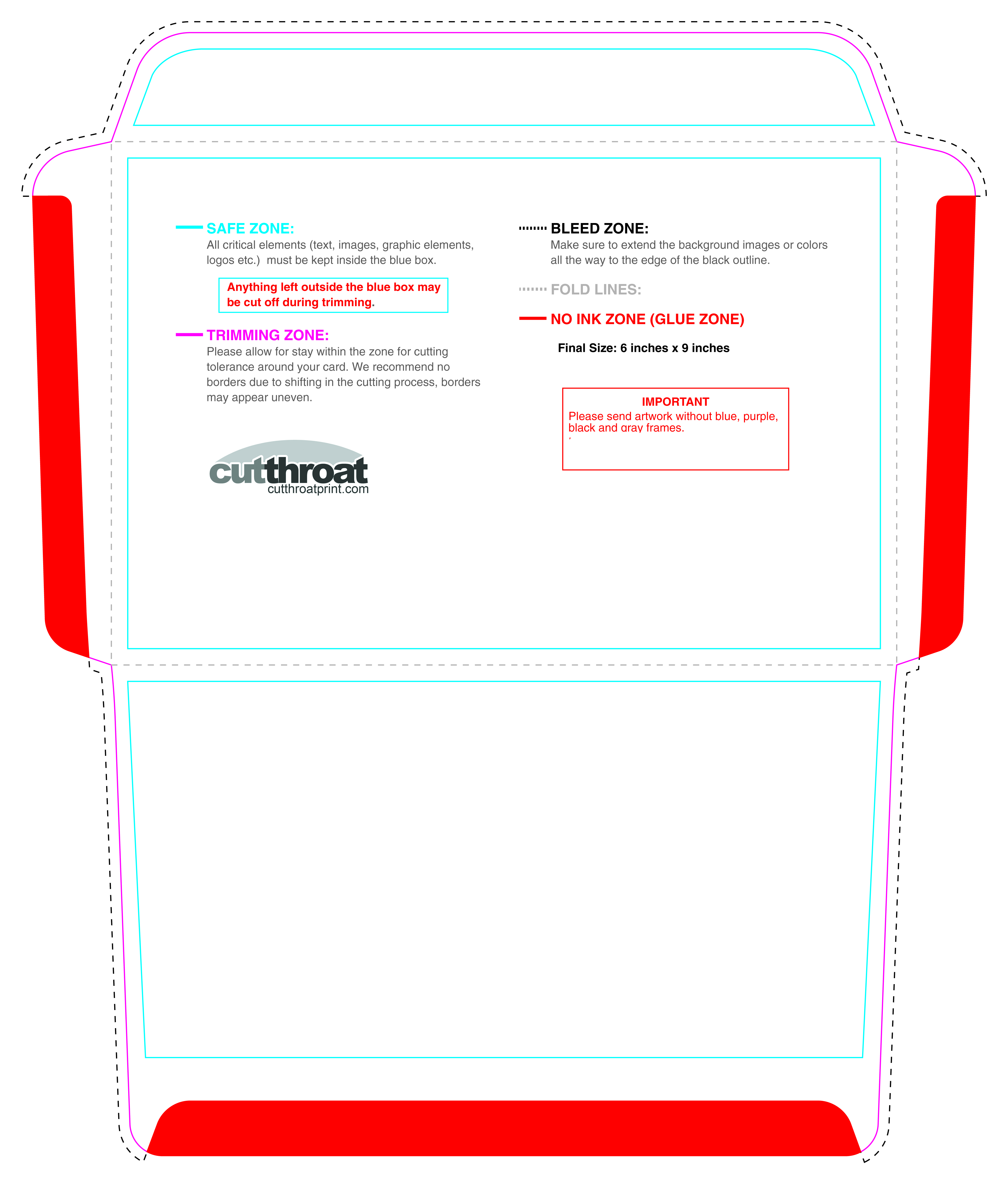 Cutthroat PrintCustom Printed Envelopes With FREE SHIPPING - Booklet envelope template
